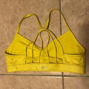 ALO Sunny Strappy sports bra bright yellow NEW!